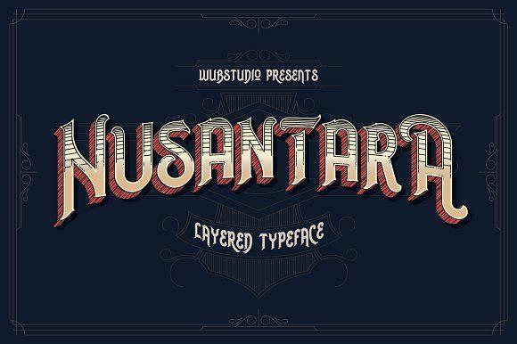 Nusantara Layered Typeface - Display