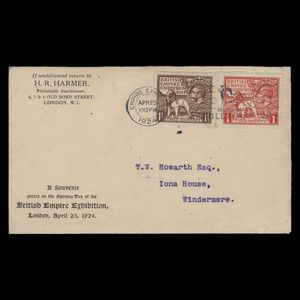 Great Britain 1924 (FDC) British Empire Exhibition