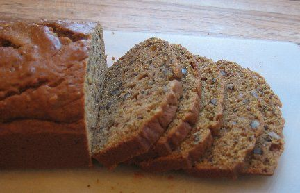 Butternut squash bread. It is AMAZING! I made 2 loaves, ate 2 slices, got right back up & made 2 more loaves! Awesome recipe!!!!