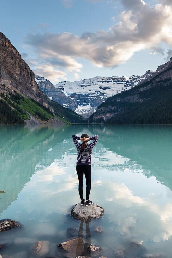 Edit Instagram of the Day: Daydreaming on Lake LouiseEvery day we bring you the most beautiful travel photo posted to Instagram. Today's picture comes from Roof Topper. Lake Louise in Alberta, Canada, looks so still and peaceful.