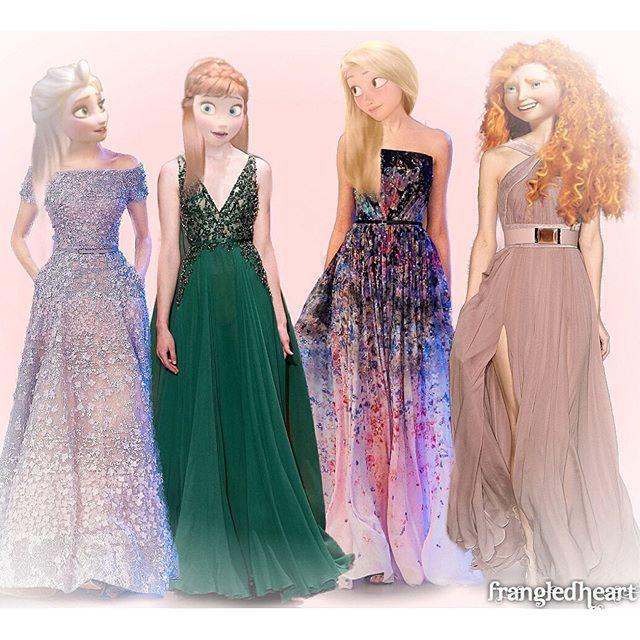 Royal Mix  : Elsa, Anna , Raiponce , Mérida