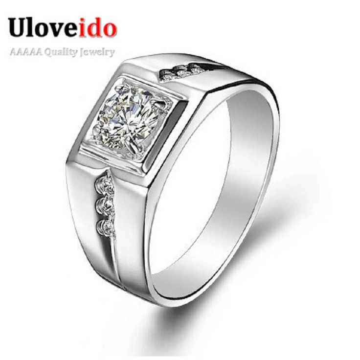 15% off Fashion 925 Sterling Silver Rings for Women / Men Jewelry 2016 Wedding Engagement Ring Anillos Wholesale Uloveido J473N