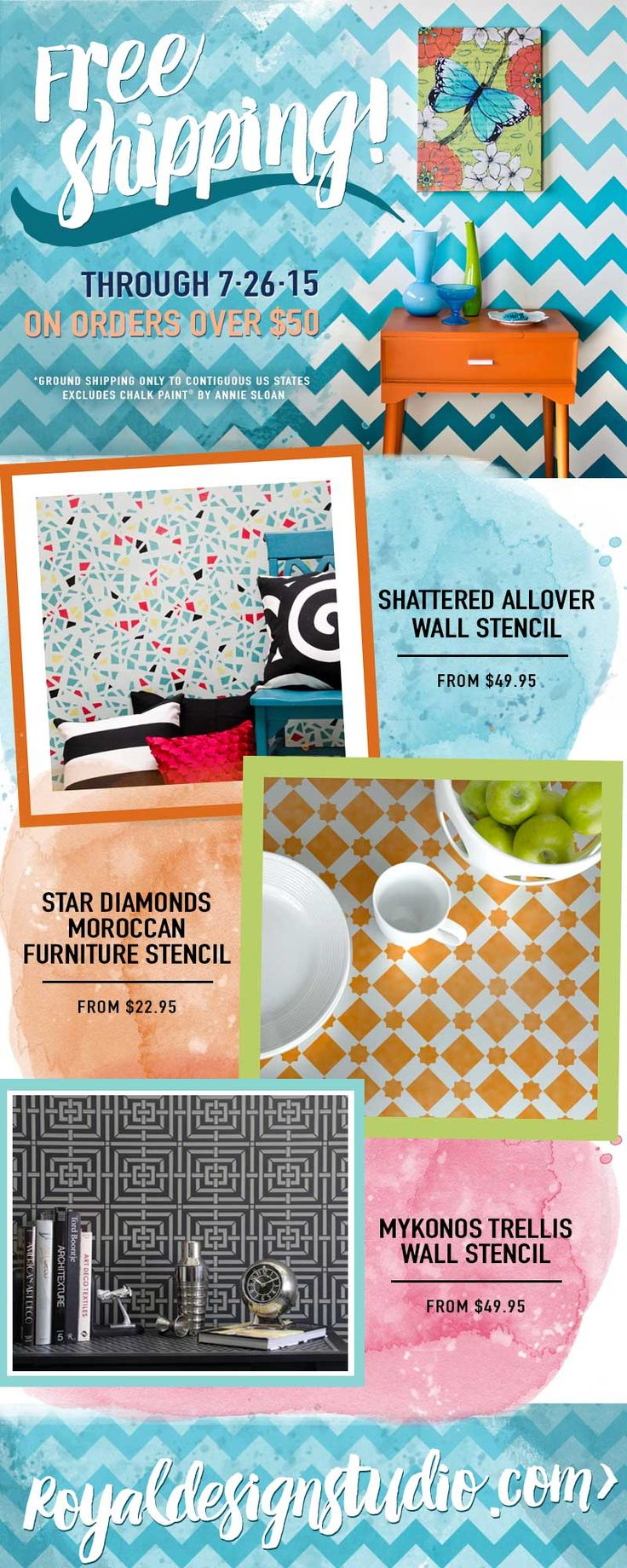 135 best sale stencilsproducts images on pinterest wall stencil designs and pretty pattern for a colorful room makeover thats cheaper than wallpaper wall stencils and furniture stencils for painting diy home amipublicfo Images