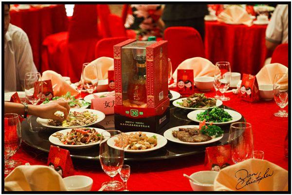 Chinese Wedding Feast, Table