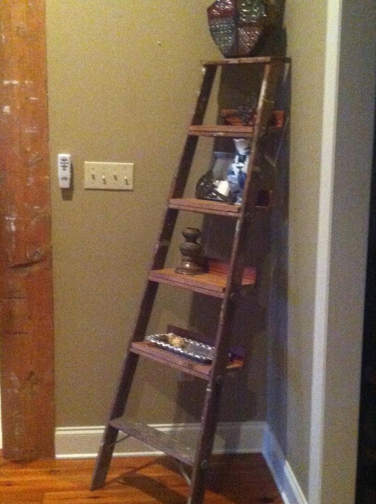 Old ladder shelves diy projects pinterest shelves for Ladder project