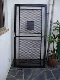 oferta puerta reja de malla de 1° calidad con marco unicas¡