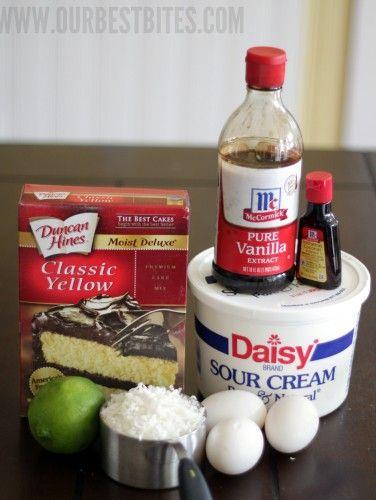 Coconut Lime Cupcake ingredients