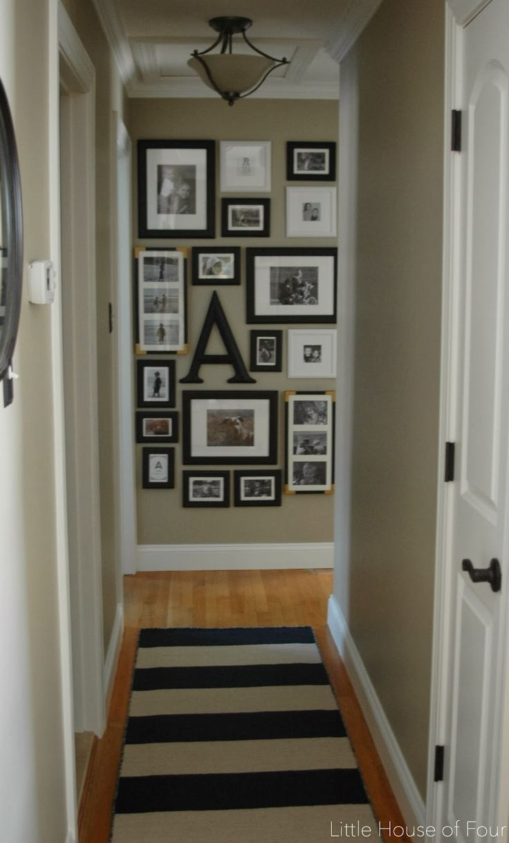 Little House of Four: New hallway rug and gallery wall...