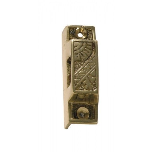 Polished Brass Screen Door Latch Box Keeper