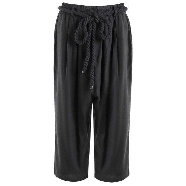 Low-Slung Crotch Lace-Up Straight Leg Men's Capri Pants #jewelry, #women, #men, #hats, #watches