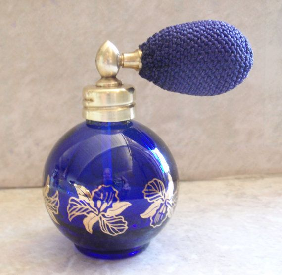 Cobalt Blue Perfume Cologne Sprayer Atomizer Bottle by cutterstone, $27.00