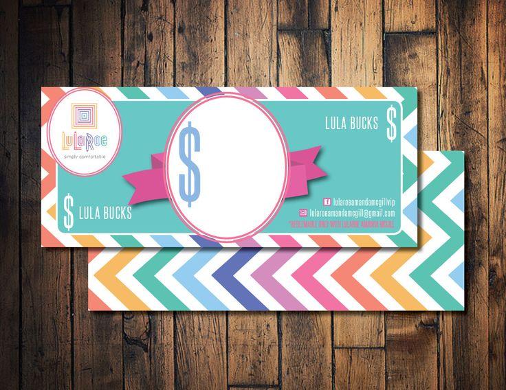 lula roe cash  lula mula  lula bucks  printable lula cash