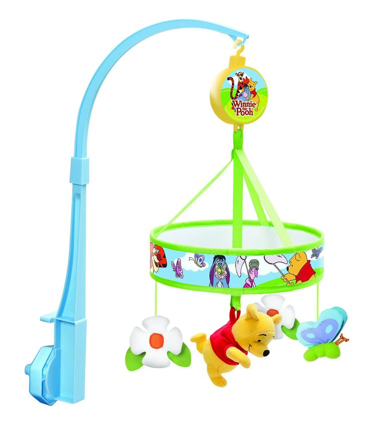 Tomy Winnie The Pooh Chasing Erflies Wind Up Baby Musical Cot Mobile