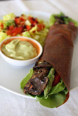 VEGGIE WRAPS  dehydrate veggie puree and voila! wraps.