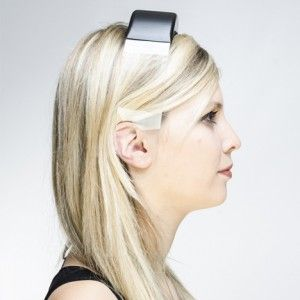 Headphones by Renaud Defrancesco transmit  music through clear plastic band