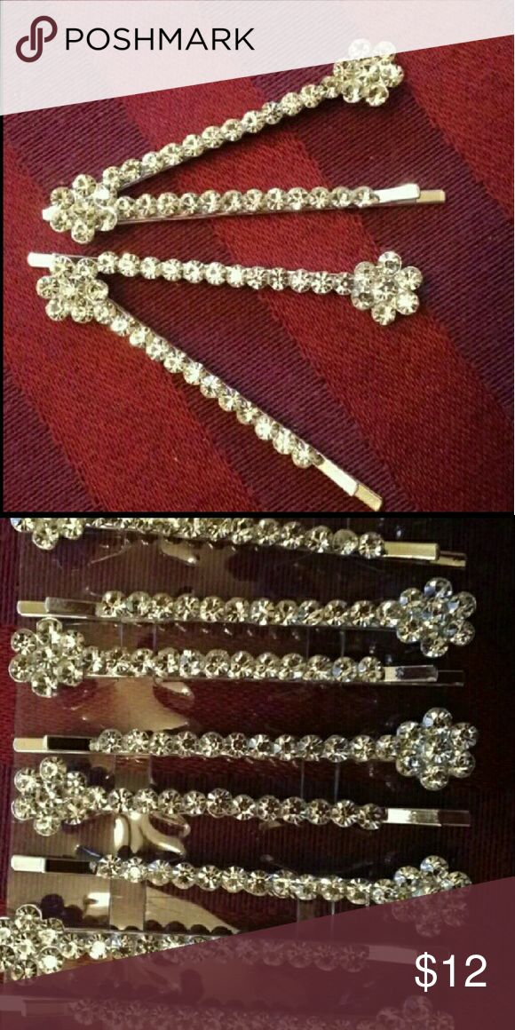 ???COMING SOON ??? Gorgeous Rhinestone Hairpins. A must have being for any hairstyle. Perfect for prom or just a special night out. 2.25 inches in length. You get a set of 2 for this price. Accessories Hair Accessories
