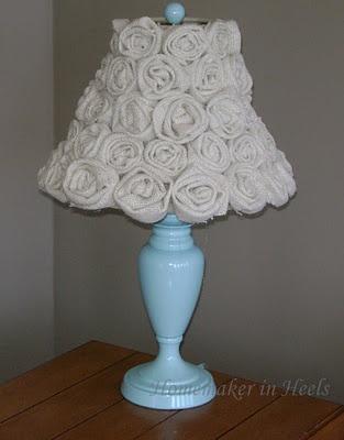 Delightful Burlap Flower Lamp Shade! Photo Gallery