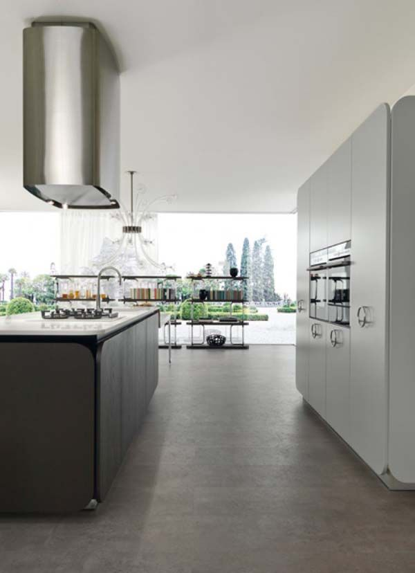 Kitchen:Gray Teak Wood IT IS Kitchen Cabinet Ovens White Counters Top  Daltile Contemporary Ceramic