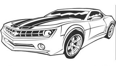 transformer bumblebee car coloring pages - photo#6