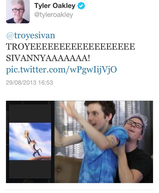 Tyler Okley & Troye Sivan <3 We all ship this so hard <3