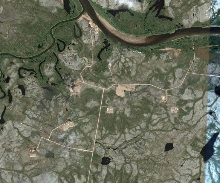 Ванкорское месторождение со спутника Google .#работанасевере#спутник#гугл#Google #Ванкор#Ванкорскоеместорождение#тундра#Красноярскийкрай#север#природа👍