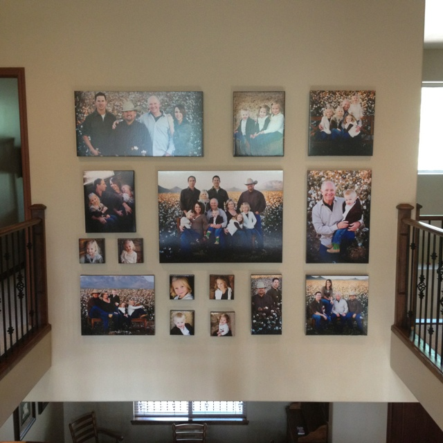 14 best images about canvas photo collage on pinterest for Collage wall art ideas