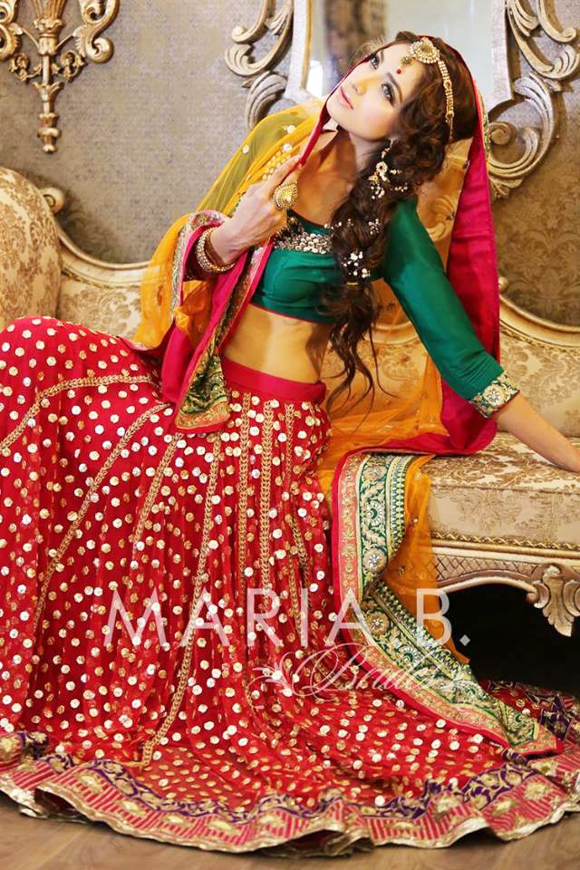 maria b traditional bridal formal dress for wedding