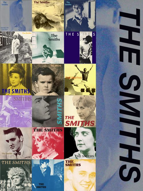 Cover artwork of all the Smiths' singles: released while the band were still together, in chronological order…