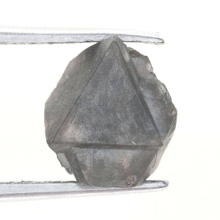 1.51 Carat Brilliant Fancy Grayish Octahedron All Natural Rough Diamond Specimen