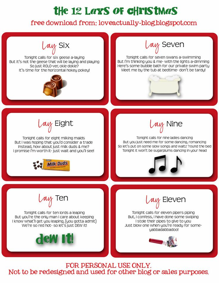 Love, Actually: The 12 Lays of Christmas