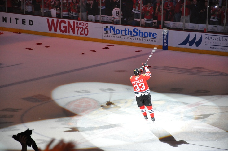 Dustin Byfuglien Star of game 5, 2010 Stanley Cup Finals for the Blackhawks