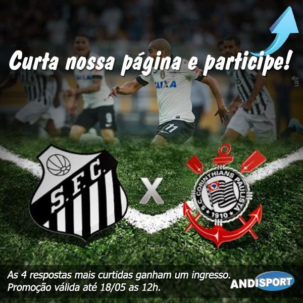 Quer ganhar um ingresso da partida final entre Santos x Corinthians? Entre no nosso facebook e saiba como participar ;) - Andisport Moda no Esporte -