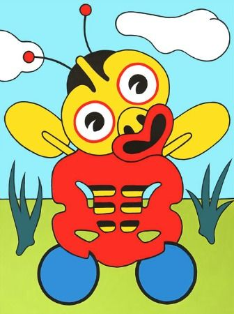 Buzzy Bee Tiki by Lester Hall for Sale - New Zealand Art Prints