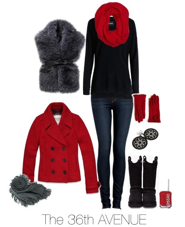 Red, black, some fur..what is not to love about this outfit? :o)