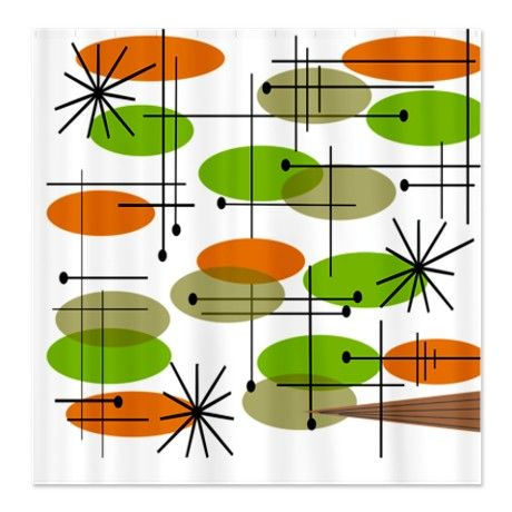 Retro Eames Era 11 Shower Curtain Home Decor I Just Ordered This From Cafepress The Cool 50s Mid Century Modern Pinterest Curtains