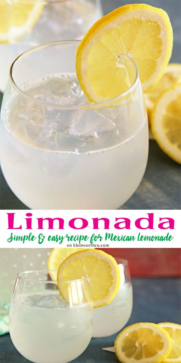 This Limonada, Mexican Lemonade is the easiest you'll find. It's light & refreshing, perfect for a summer afternoon or your Cinco de Mayo celebrations. via @KleinworthCo