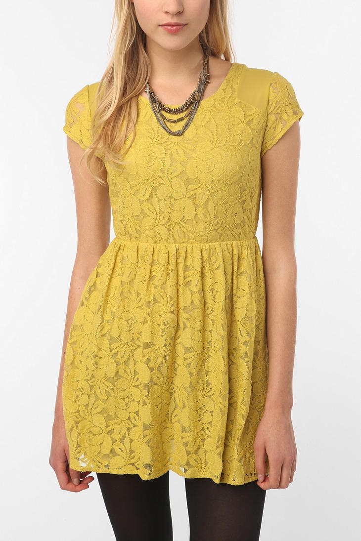 $49.00 Coincidence & Chance Revel Dress in Lace...I ordered this in blue and love it! It fits like a glove.Dresses Urbanoutfitters, Yellow Lace, Chances Revelation, Revelation Dresses, Clothing, Urban Outfitters Dresses, Urbanoutfitters Com, Mustard Yellow, Lace Dresses