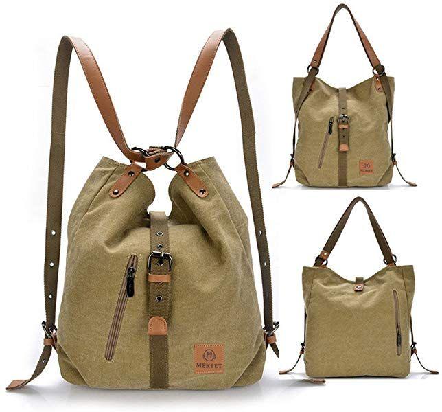f287e57b4d5e MEKEET Large Rucksack, Shoulder Bag Canvas Handbag Travel Backpack for  Women Ladies Girls: Amazon.co.uk: Shoes & Bags