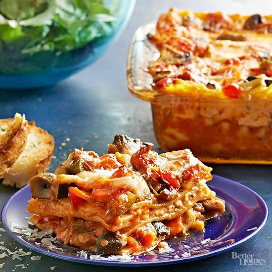 Trust us -- even the veggie-averse will love this colorful lasagna. Layer on the carrots, zucchini, mushrooms, and peppers, then drape in a bubbly blanket of melty mozzarella./