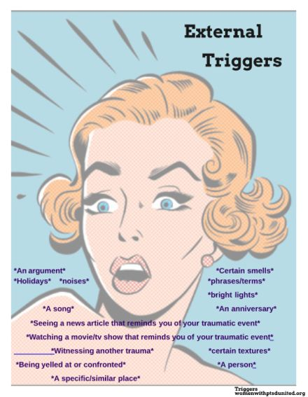 Triggers are MUCH different than hurt feelings. ❣Julianne McPeters❣ no pin limits