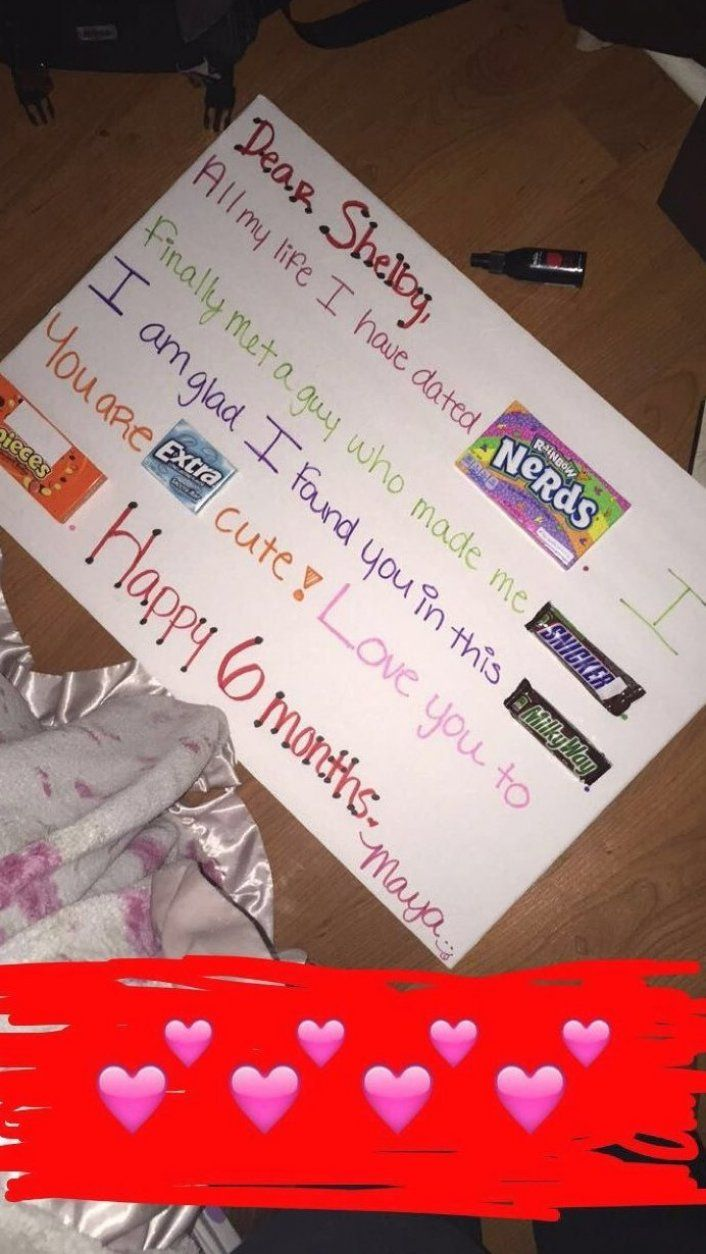 A Cute Idea Gift For Your 6th Month Anniversary For Your Wonderf In 2020 6 Month Anniversary Anniversary Gift Ideas For Him Boyfriend 6 Month Anniversary Boyfriend