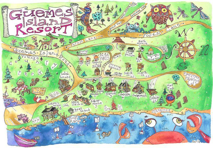 Guemes Island Resort Map