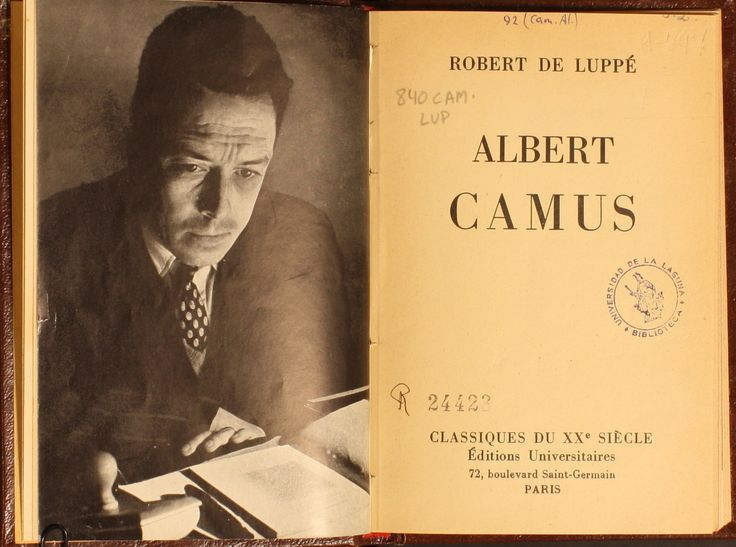 """an analysis of the existentialist novel written by albert camus There is no """"meaning"""" to make sense of our lives  albert camus's opening  proposition in his best-known essay, """"the myth of sisyphus,""""  generically, as  sartre wrote in a digression in his novel nausea (1938), the novel  camus'  absurd theory and sartre's existentialist theory go together hand in hand."""