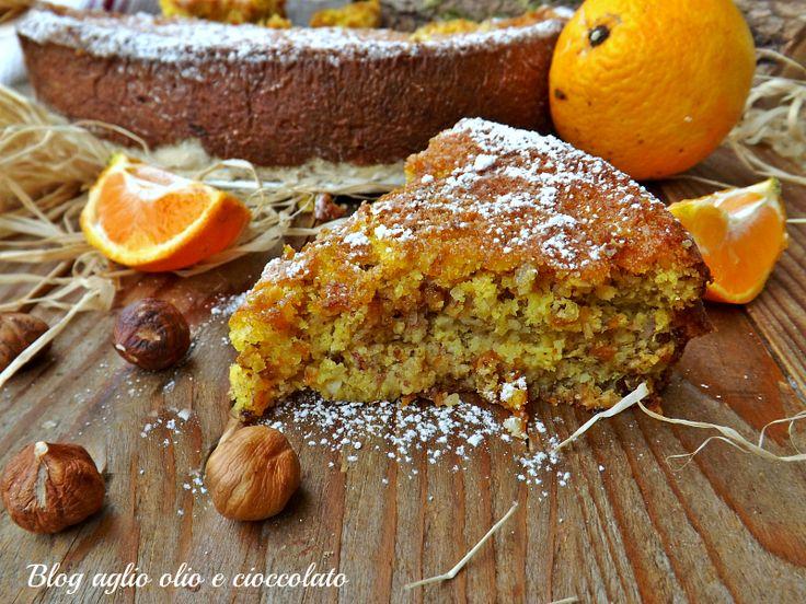 torta arancia e nocciole-ricetta senza farina e burro