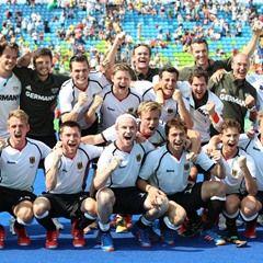 2016 Rio Olympics - Germany celebrates the Men's Field Hockey Bronze Medal