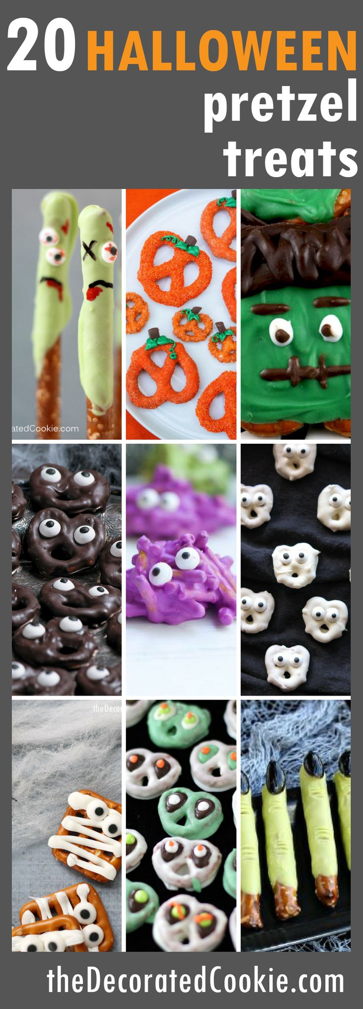 20 Halloween pretzel treats roundup - The Decorated Cookie