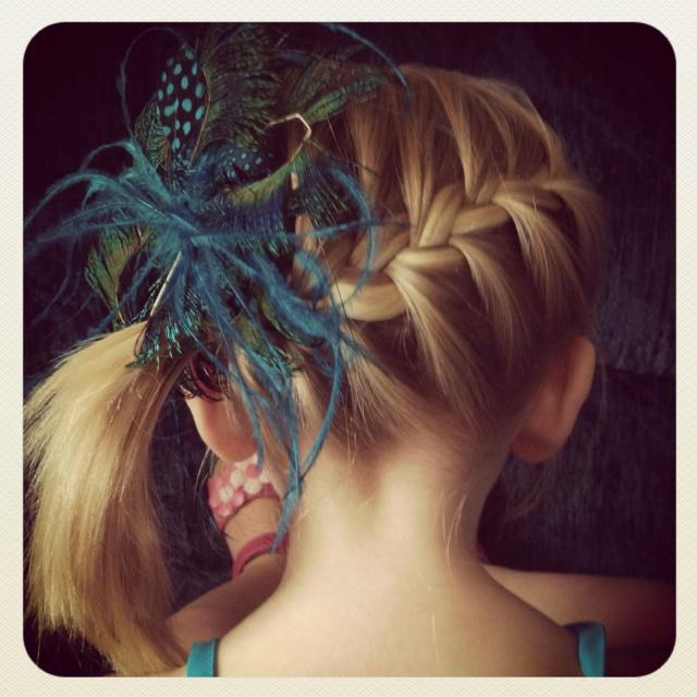 French braid/ Pony tail!