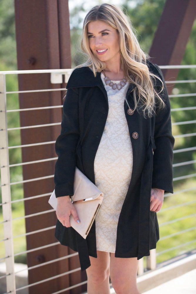 Cream Damask Metallic Maternity Dress