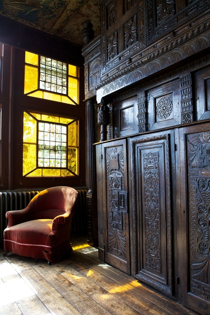The wood wall carving is gorgeous. Hauteville House, Guernsey