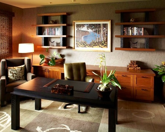 Tropical Home Office Design, Pictures, Remodel, Decor and Ideas